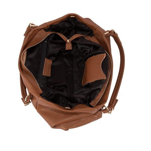 Hnědá kabelka z pravé kůže Andrea Cardone Gemma