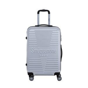 Cestovní kufr na kolečkách ve stříbrné barvě s kódovým zámkem SINEQUANONE Trimy, 71l