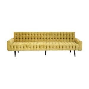 Canapea 3 locuri Kare Design Milchbar, galben