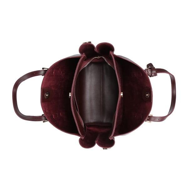 Tmavě červená kabelka Beverly Hills Polo Club Alicia