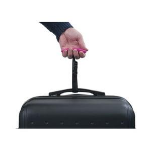 Růžová digitální váha pro zvážení kufru Bluestar