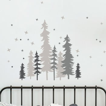 Autocolant de perete Ambiance Forest Trees With Stars