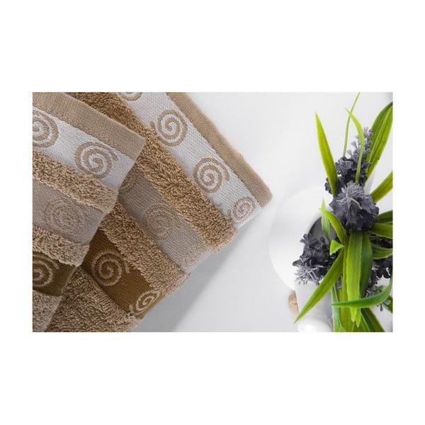 Set dvou ručníků Truva Light Brown, 90x150 a 50x90 cm