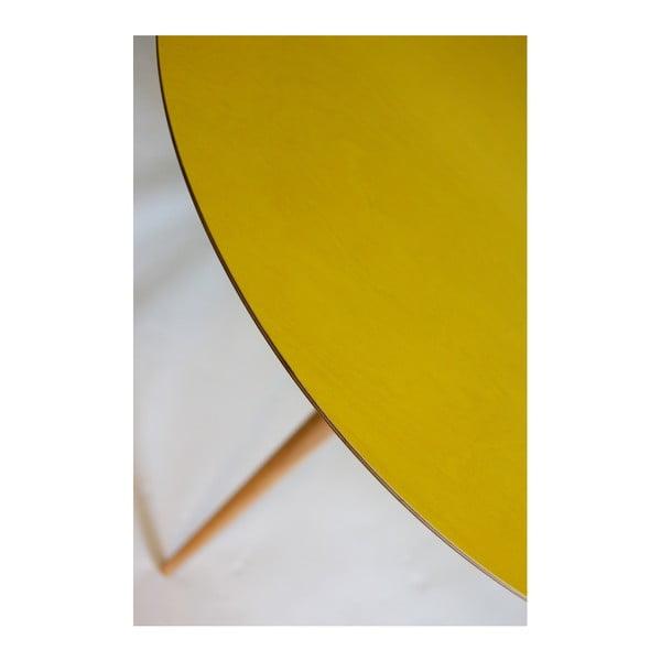 Masă Ragaba Planet Round, galben