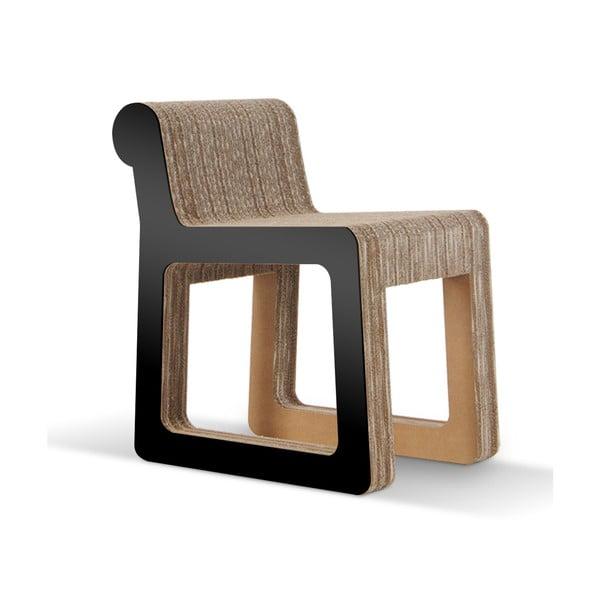 Kartonová židle Knob Black