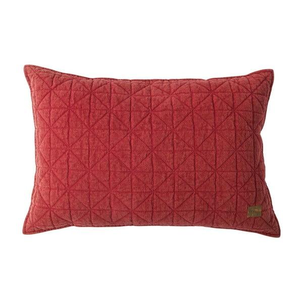 Červený polštář BePureHome Lines, 40x60cm