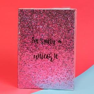 Zápisník Just 4 Kids Unicorn Magic Pink Glitter, 100 stránek