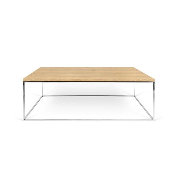 Konferenční stolek s chromovými nohami TemaHome Gleam, 120 cm