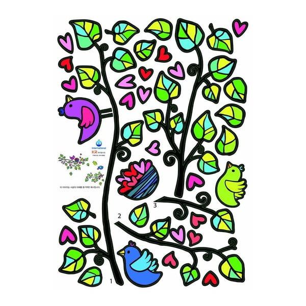 Sada samolepek Fanastick Birds And Hearts