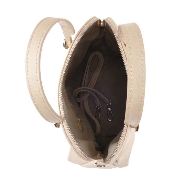 Kožená kabelka Yutz, krémová