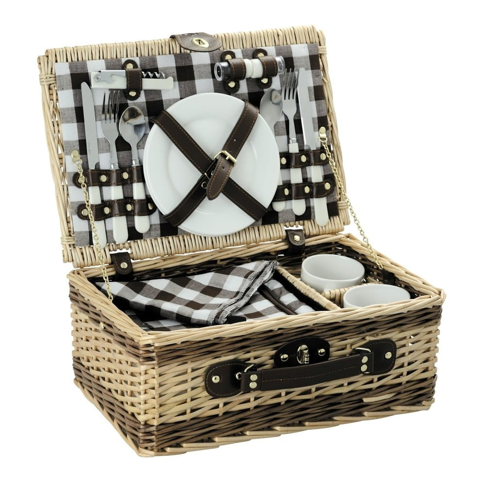 Piknikový koš s nádobím Laguiole Michelle