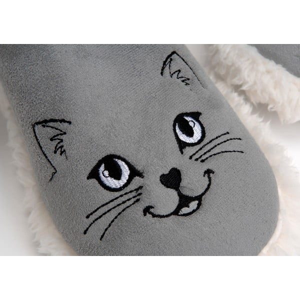 Papuče Pompom Cat Grey, vel. 37/38