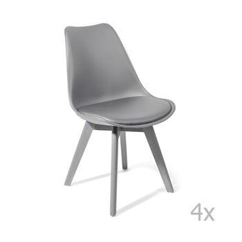 Set 4 scaune dining Tomasucci Kiki Evo, gri de la Tomasucci