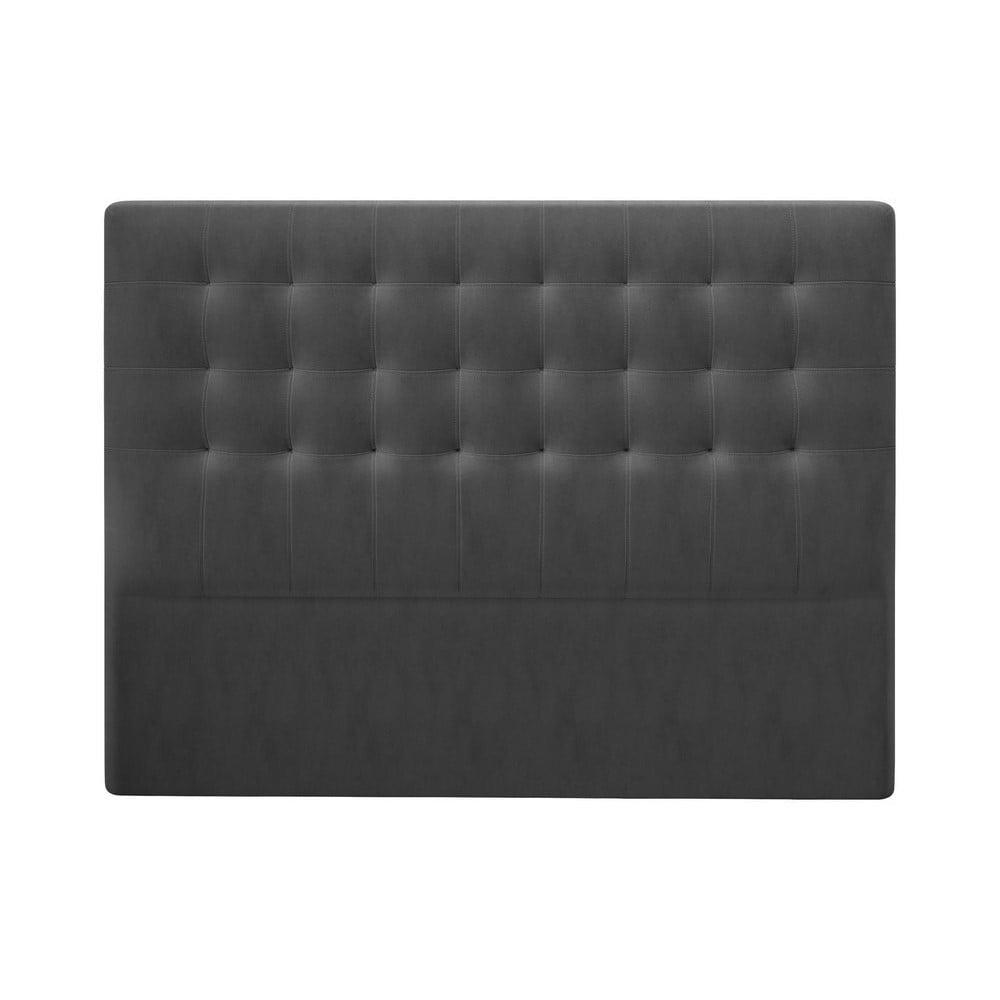 Produktové foto Tmavě šedé čelo postele se sametovým potahem Windsor & Co Sofas Athena, 140x120cm