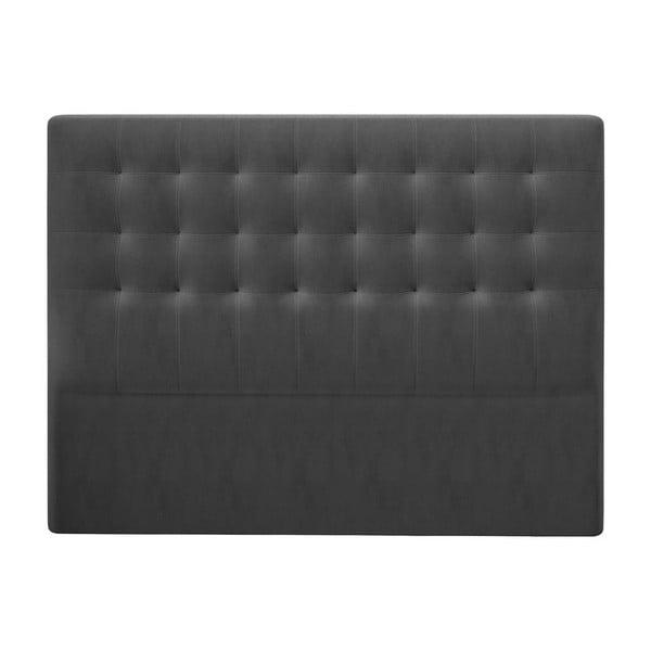 Ciemnoszary zagłówek z aksamitnym obiciem Windsor & Co Sofas Athena, 200x120 cm