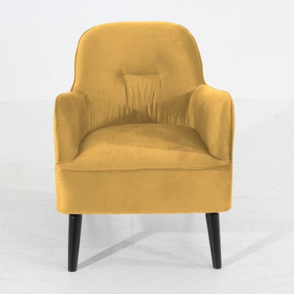 Žluté křeslo Max Winzer Petros