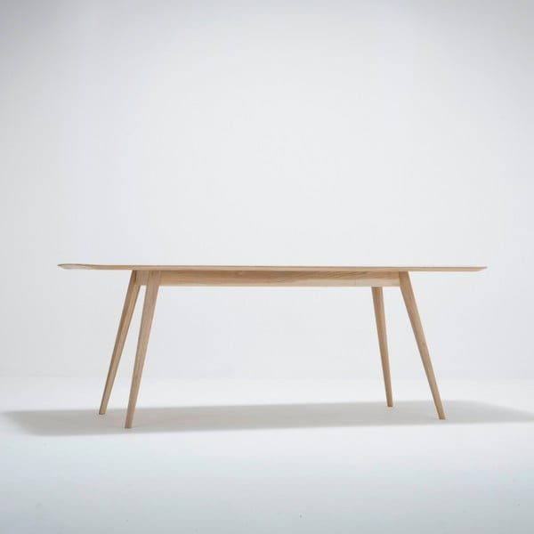 Jídelní stůl z masivního dubového dřeva Gazzda Stafa, 200x90cm
