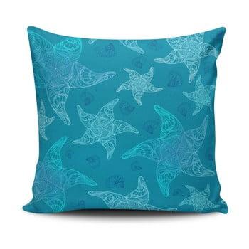 Pernă cu adaos de bumbac Cushion Love Azulo, 45 x 45 cm