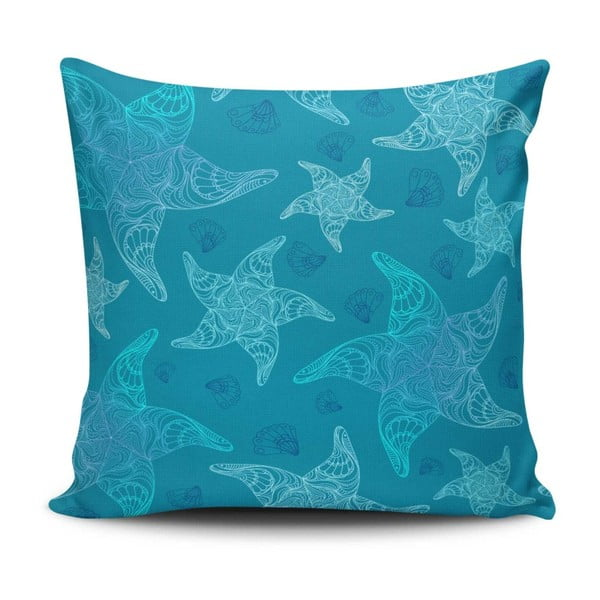 Polštář s příměsí bavlny Cushion Love Azulo, 45 x 45 cm