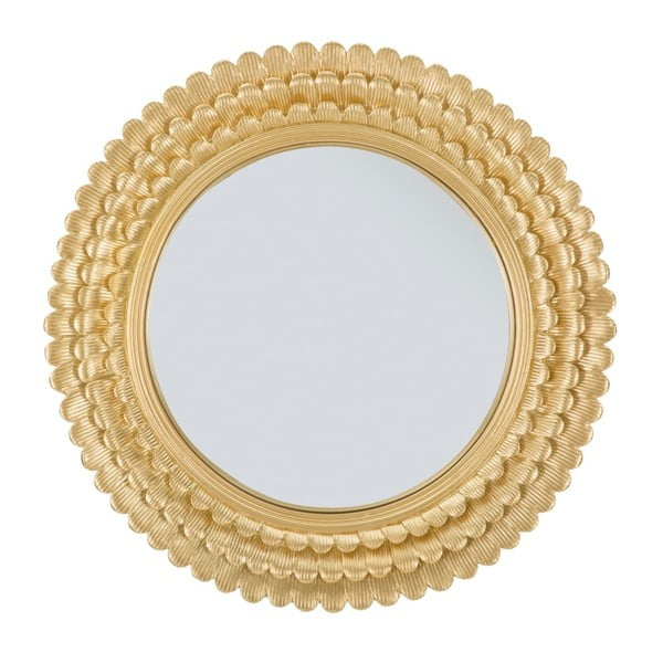 Nástěnné zrcadlo v železném rámu Mauro Ferretti Glam Lamin, ⌀ 43 cm