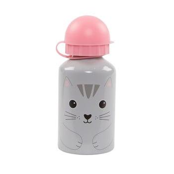 Sticlă pentru apă Sass & Belle Nori Cat, gri – roz de la Sass & Belle