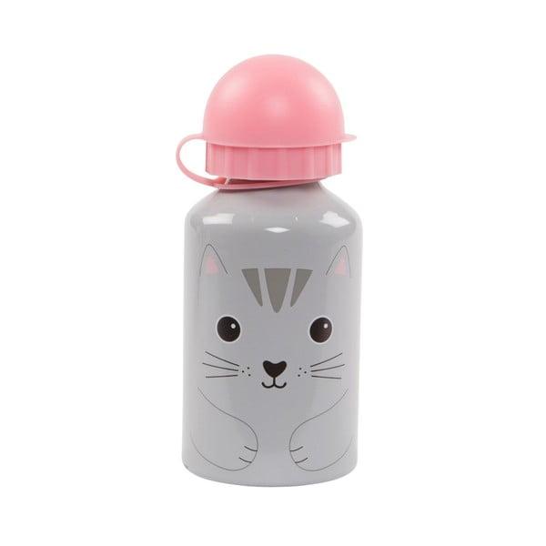 Sticlă pentru apă Sass & Belle Nori Cat, gri - roz