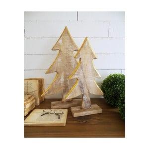 Sada 2 dekorativních dřevěných stromků Orchidea Milano Pinetrees Garde
