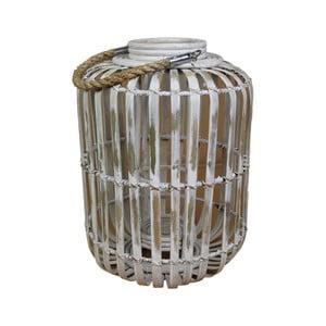 Bílá lucerna z bambusu HSM Collection Capsule, ⌀33 cm