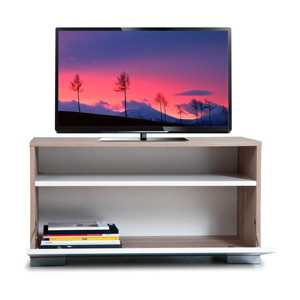 Televizní stolek Decoflex, bílý/dub cordoba