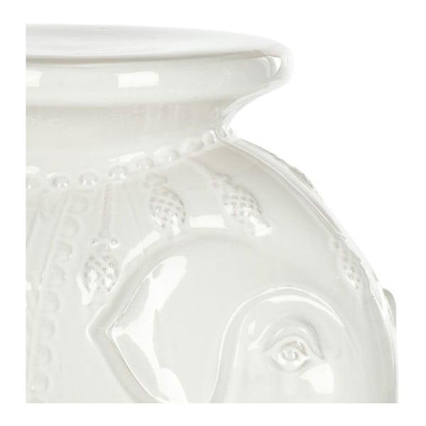 Bílý keramický stolek Safavieh Capri