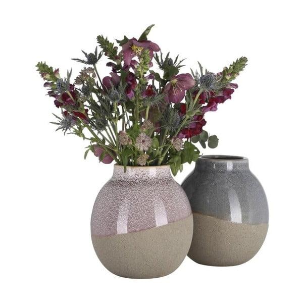 Kameninová váza A Simple Mess Skraa Cognac, ⌀18cm