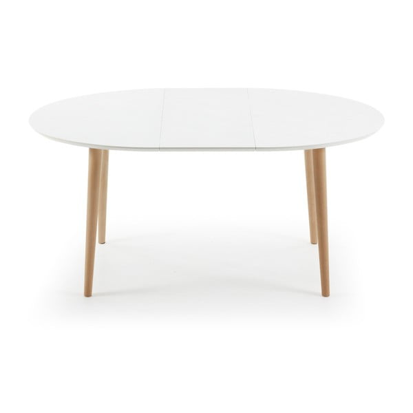 Bílý rozkládací jídelní stůl La Forma Oakland