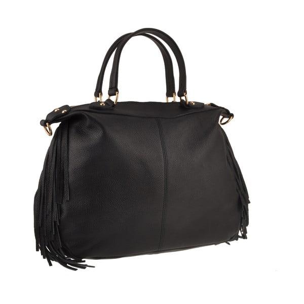 Kožená kabelka Emilio Masi Celaeno, černá
