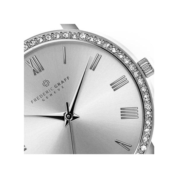 Dámské hodinky s černým páskem z pravé kůže Frederic Graff Lychee