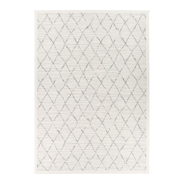 Bílý vzorovaný oboustranný koberec Narma Vao, 70x140cm