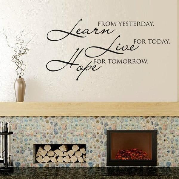 Samolepka na stěnu Learn live hope II