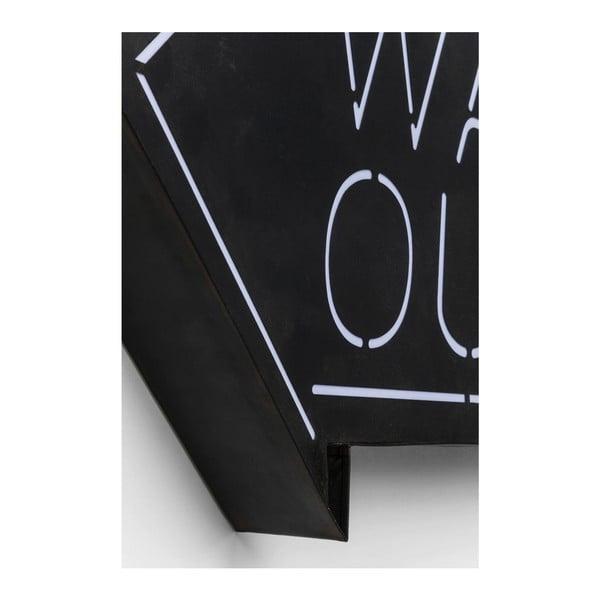 Nástěnná svítící dekorace Kare Design Way Out