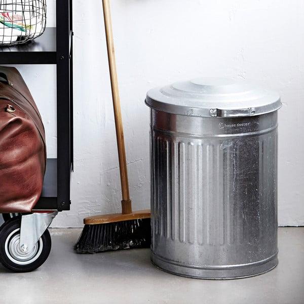 Odpadkový koš Garbage Zinc, 25,5x30 cm