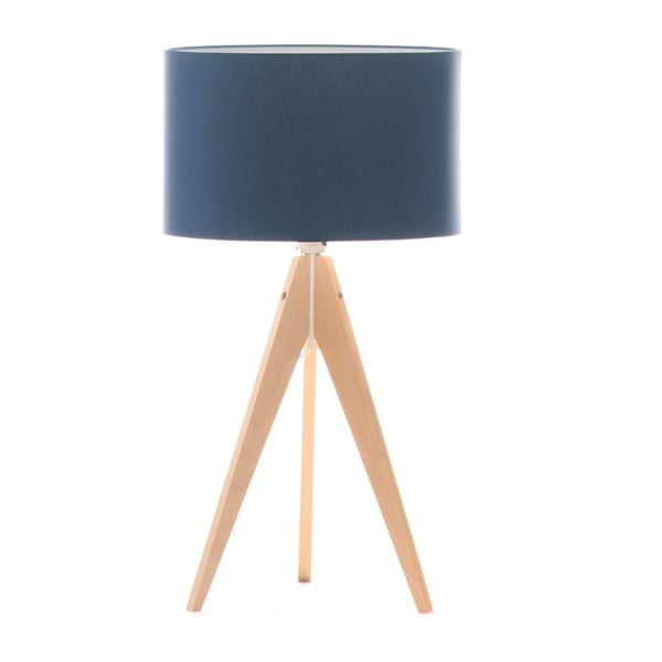 Stolní lampa Artist Dark Blue/Birch, 40x33 cm