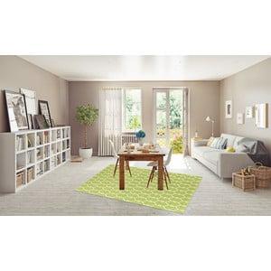 Zelený vysoce odolný koberec vhodný do exteriéru Floorita Trellis, 160x230cm