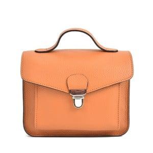 Koňakově hnědá kožená kabelka Mangotti Bags Cristina