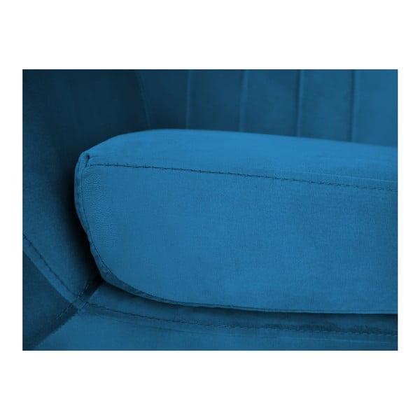 Modré křeslo Mazzini Sofas Benito