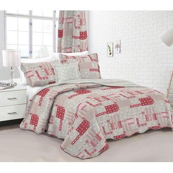 Cuvertură pentru pat dublu cu 2 fețe de pernă Dakls Redmi imagine