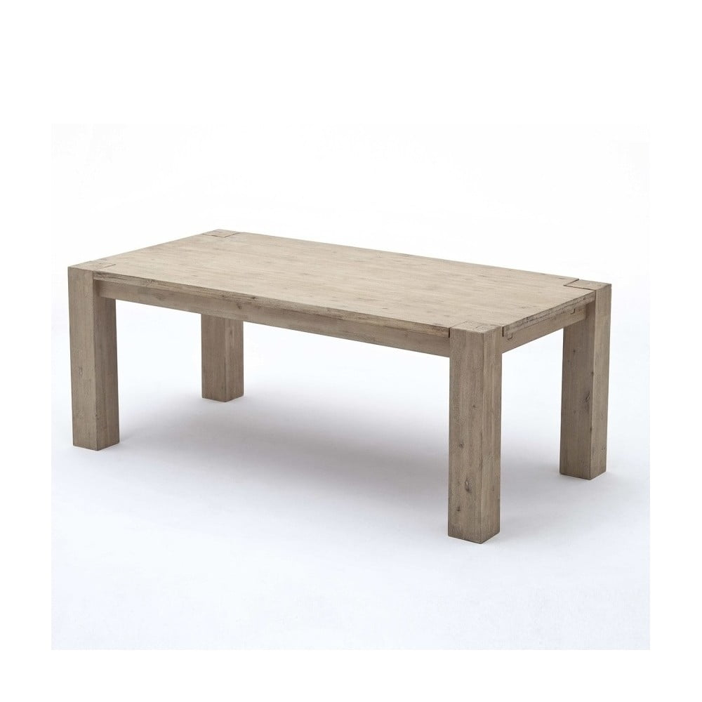 Světle hnědý jídelní stůl z akáciového dřeva SOB Sydney, 200 x 100 cm