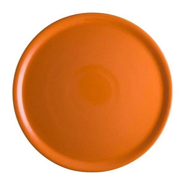 Pomarańczowy talerz porcelanowy na pizzę Brandani Pizza, ⌀ 31 cm