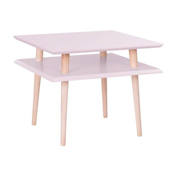 Square rózsaszín dohányzóasztal, 55 x 55 cm - Ragaba