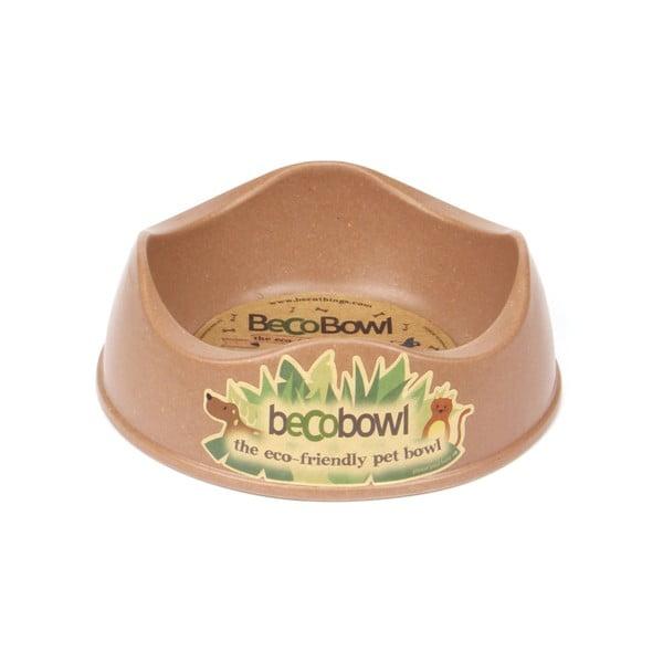Psí/kočičí miska Beco Bowl 17 cm, hnědá