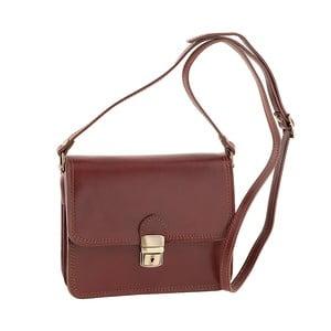 Hnědá kožená kabelka Ore Diece Agrigento