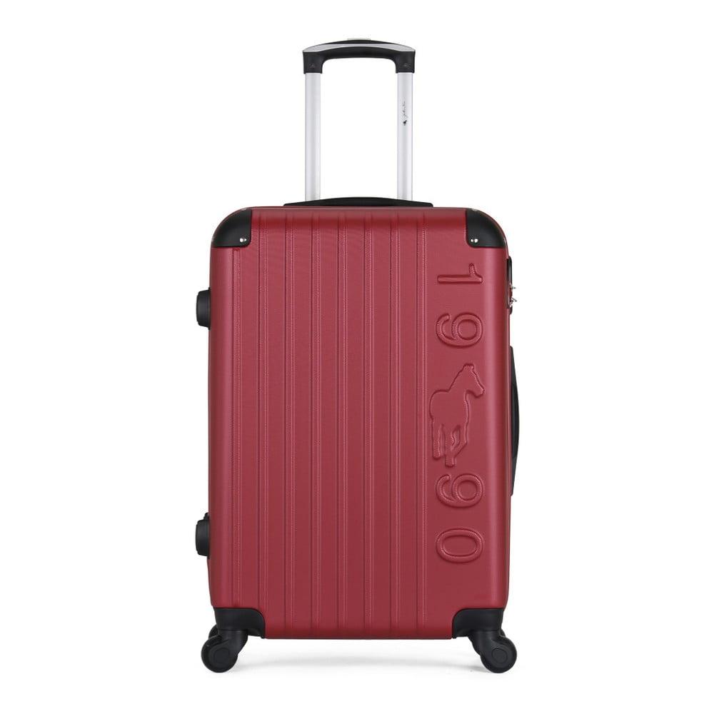 Vínový cestovní kufr na kolečkách GENTLEMAN FARMER Valise Grand Cadenas Integre Malo, 35 x 55 c
