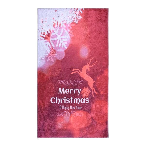 Covor Vitaus Christmas, 80 x 120 cm, roșu